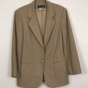 Sag Harbor womens blazer jacket wool career wear